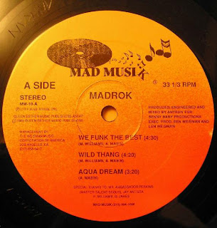 Madrok - We Funk The Best-Wild Thang-Aqua Dream (Vinyl, 12'' 1985)(Mad Musik)