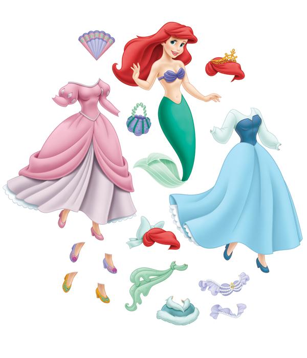 Boneca De Papel Para Montar  Princesa Ariel   Roupas Para Imprimir