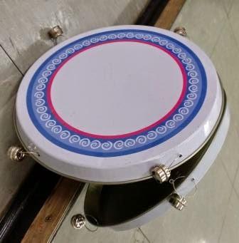 A hob cover tambourine