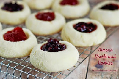 Almond Shortbread Cookies by The Sweet Chick