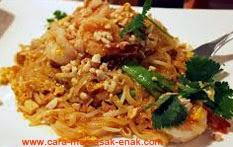 resep praktis (mudah) membuat (memasak) masakan khas thailand pad thai spesial enak, gurih, lezat