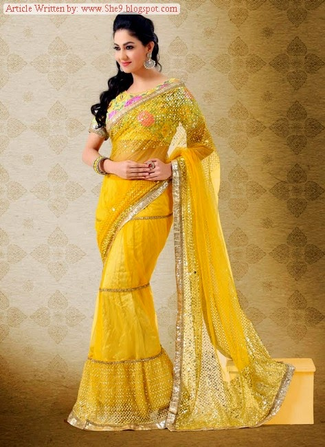 South Indian Bridal Saree Fashion For Party Wear
