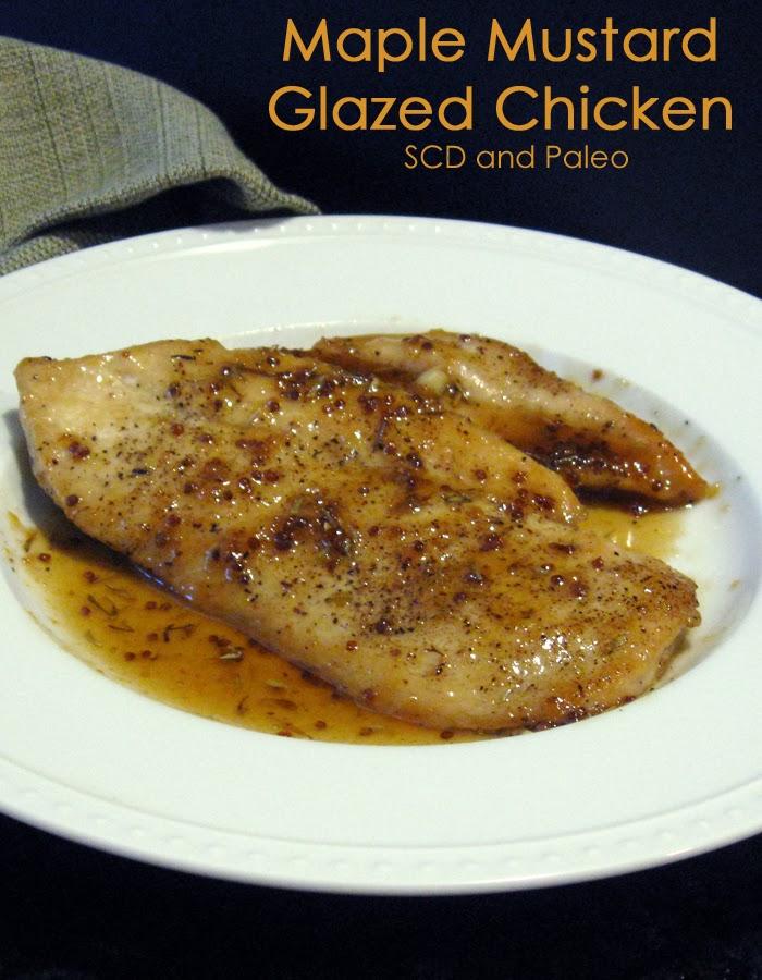 The Crazy Spork: Maple-Mustard Glazed Chicken - SCD and Paleo