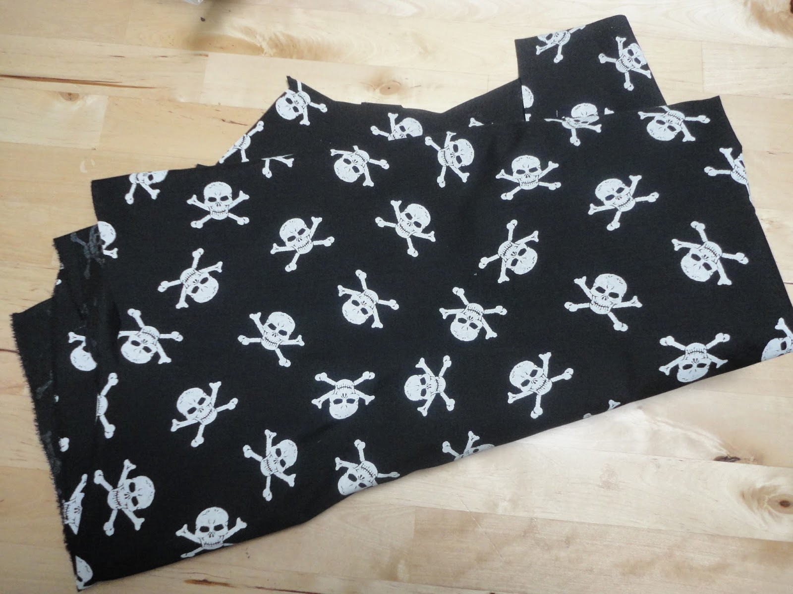 Skull and Crossbones fabric from Minerva Crafts