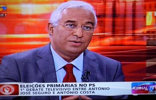 António Costa na TVI, no debate moderado por Judite de Sousa