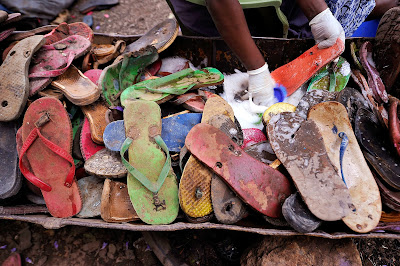 Toy, Recycle, Animal, Flip-Flop, Elephant, Rubber, Ocean Sole, Nairobi, Company, Economy, Kenya, Worker, Laborer, Discard, Industry, Children, Play,