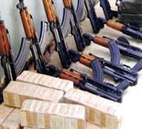 ضبط 4 تجار مخدرات بحوزتهم 150 كيلو بانجو وبنادق آلية بأكتوبر