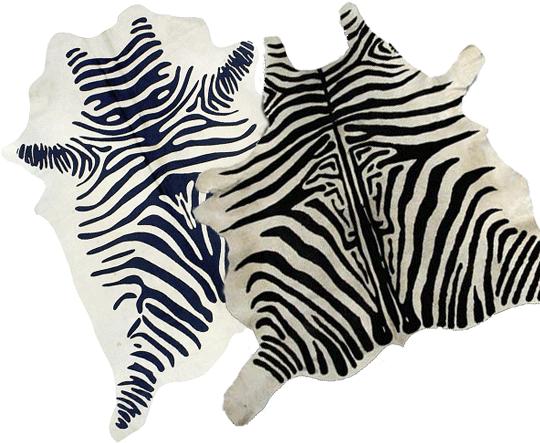 Koskinn som zebraskinn hos Ellos och DesignMattor | www.var-dags-rum.se