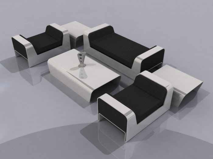 Modern minimalist black and white living room furniture - Black and white modern living room furniture ...