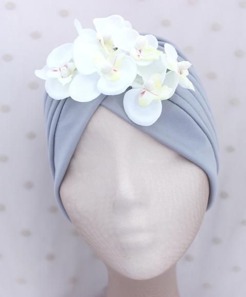 Colección Orquídea - Turbante Gis