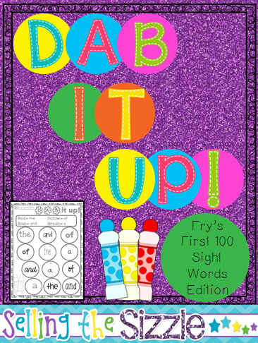 http://www.teacherspayteachers.com/Product/Dab-it-Up-with-Frys-First-100-Words-1188961