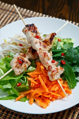 Lemongrass Chicken Rice Vermicelli Salad
