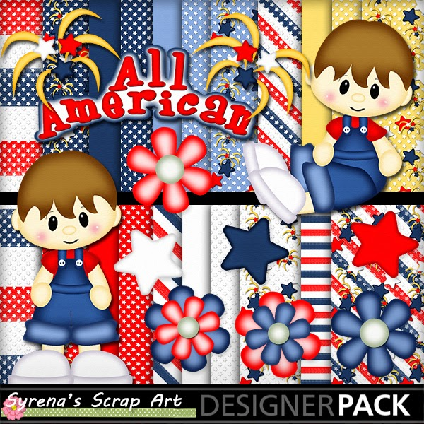 All American Boy Digital Scrapbook Kit