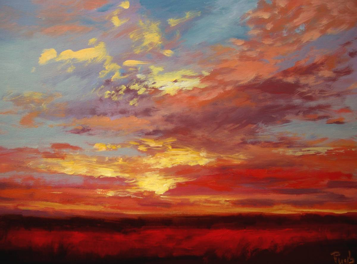 Sunset Paintings by Wendy-Puerto