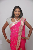 Actress Nisha Latest Photos in Pink saree-thumbnail-13
