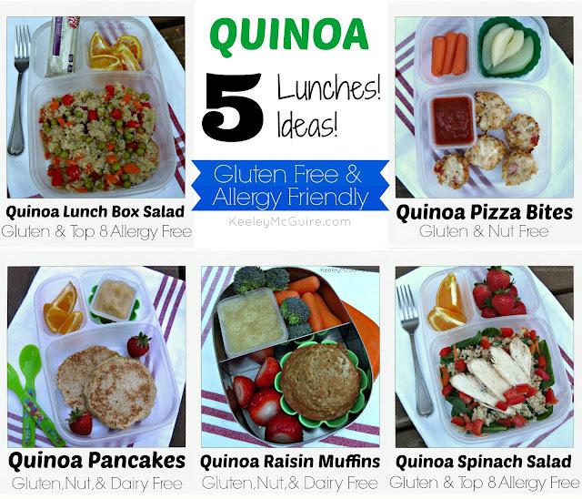 Lunch Made Easy: Quinoa Gluten Free & Allergy Friendly Ideas