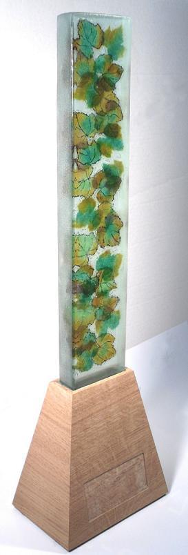 Trophée, pièce unique verre fusionné