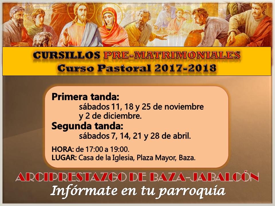 CURSILLOS NOVIOS 2017-2018