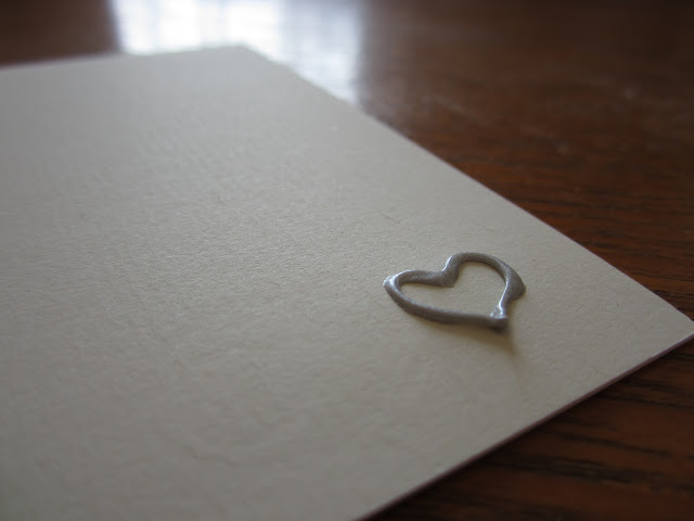 homemade embossed wedding stationary