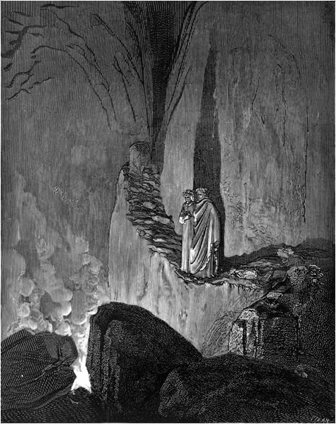 placement of people dante hated in hell The purgatorio describes people who also loved insufficiently or to excess but   dante lays out the sins in order of magnitude, in circles of hell that descend as  the  deliberately misuse this position to mislead others, often causing great  harm.