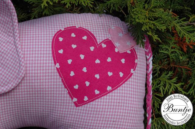 Kuscheltier Elefant Elefantös Farbenmix rosa pink Mädchen nähen Baumwolle Geschenk Geburt Taufe Mitwachshose Pumphose Baby Dschinni Cord Eulen Bündchen 56/62 Buntje