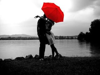 Imagen tierna de amor en pareja