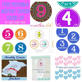 7 Free Printable Month Stickers Round-up