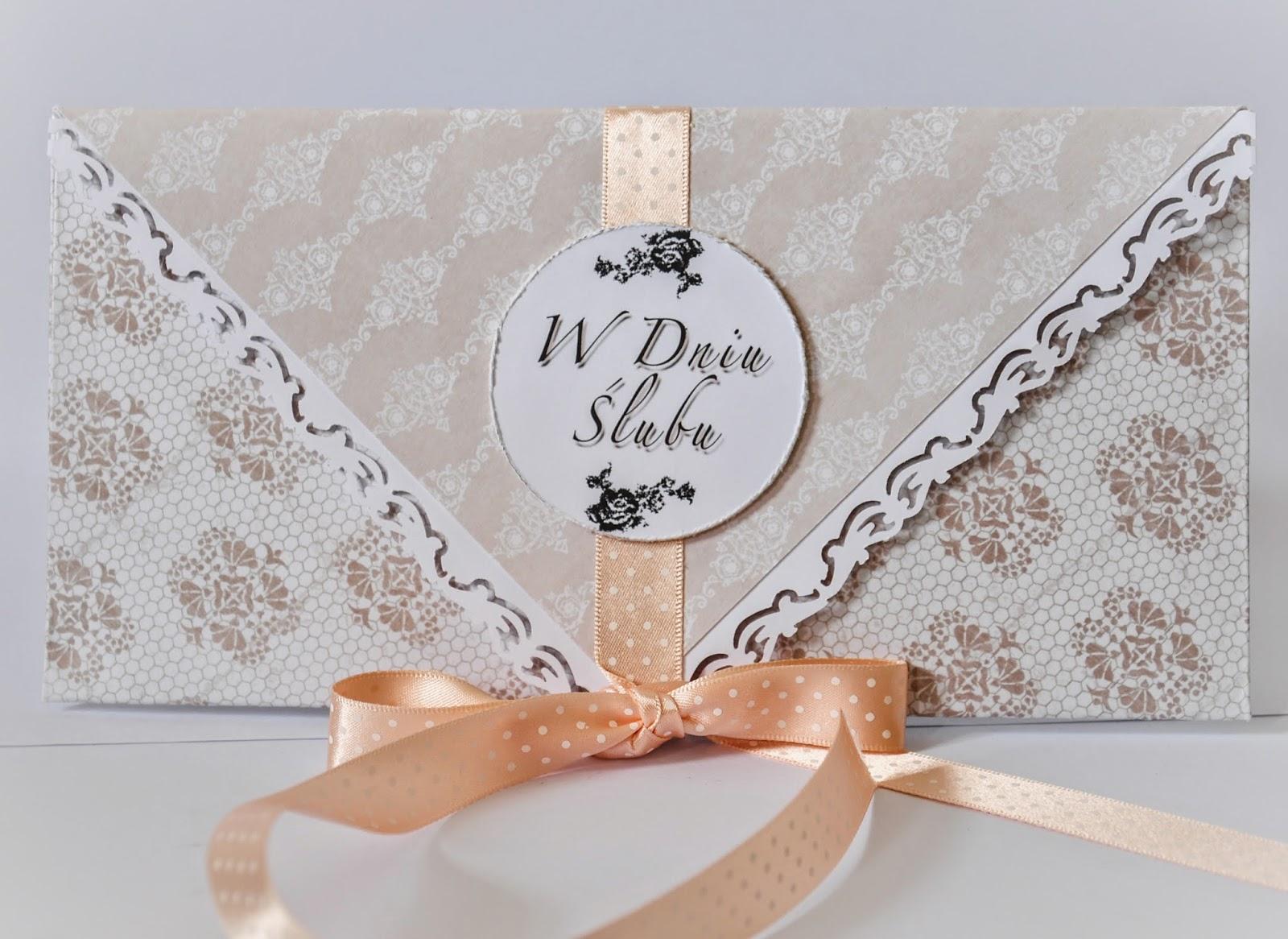 koperta ślubna na pieniądze
