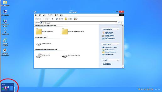 Transformer windows xp windows 8 th3 experts computer for Fenetre windows xp
