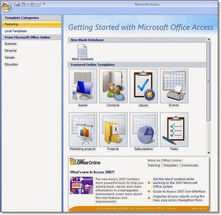 tampilan ms Access