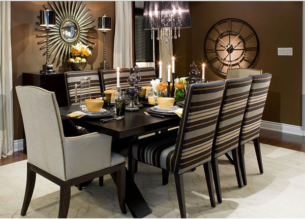 Fotos de comedores elegantes colores en casa for Comedores ovalados modernos