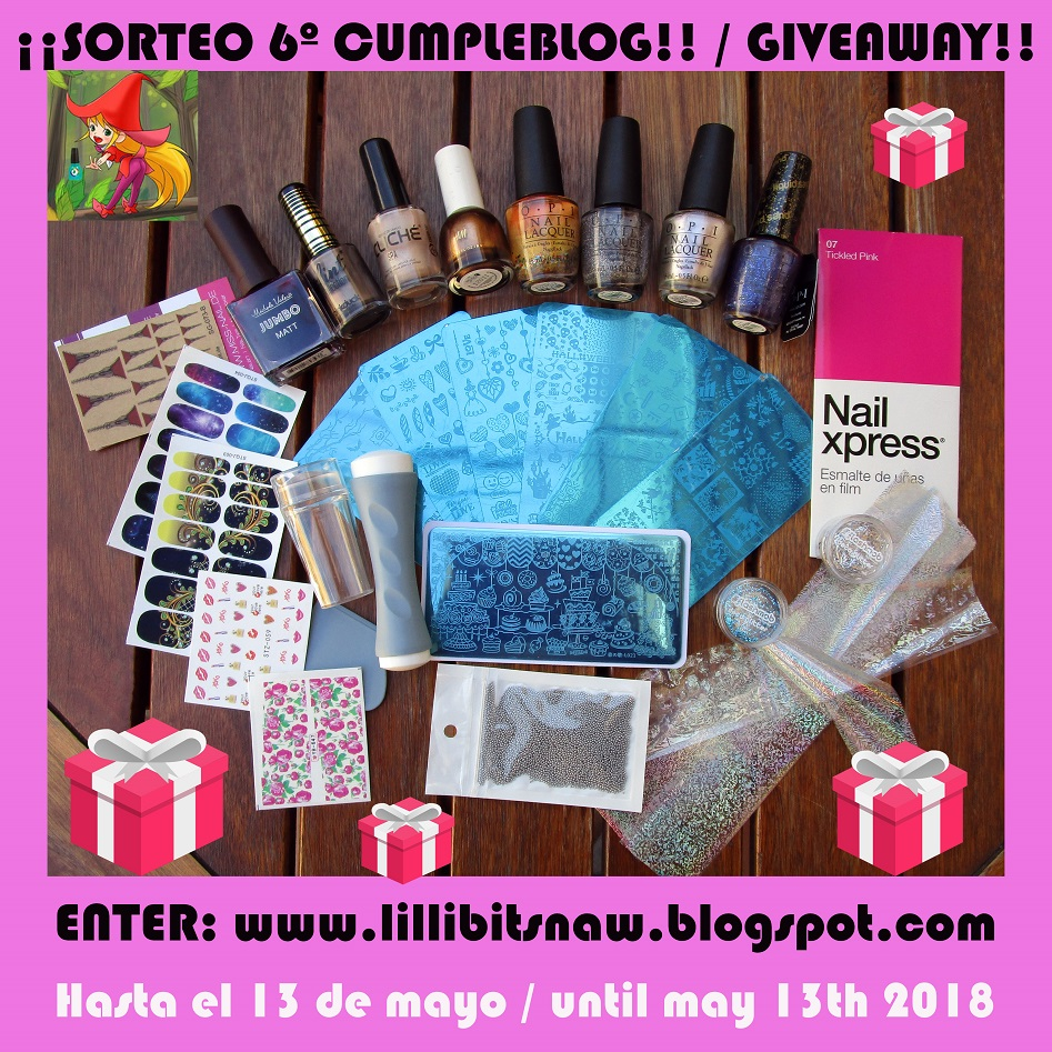 ¡Sorteo 6º cumpleblog! - Lillibit's Nail Art World
