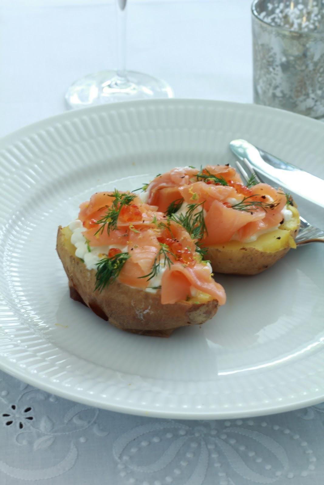 On dine chez nanou pomme de terre au four au saumon fum et cottage ou comment utiliser vos restes - Recette saumon au four avec pomme de terre ...