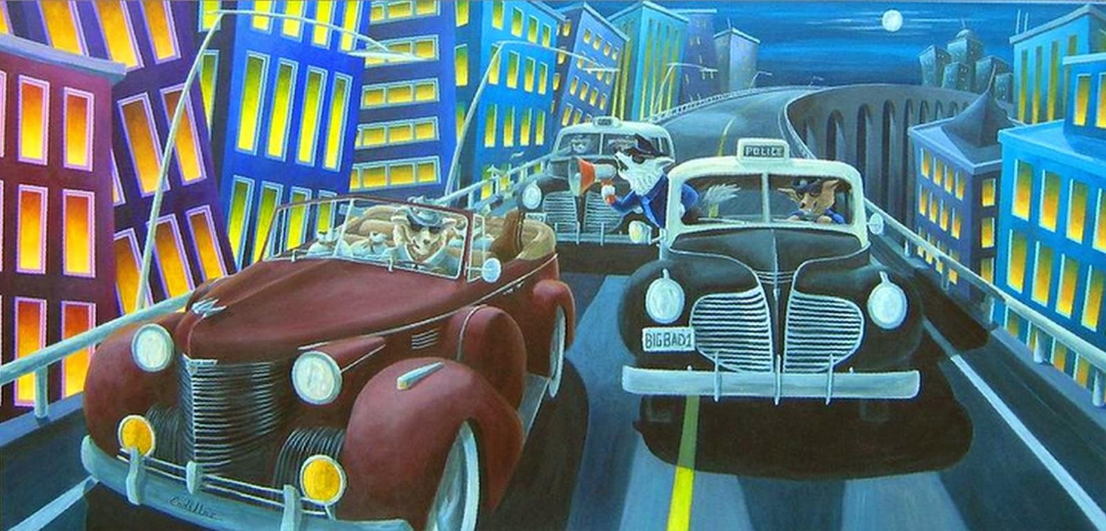 Cuadros modernos pinturas y dibujos cuadros ciudades for Cuadros al oleo modernos