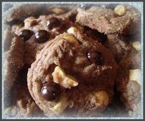 Kue Coklat Kacang Kismis