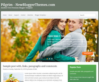 Pilgrim-Blogger-Template