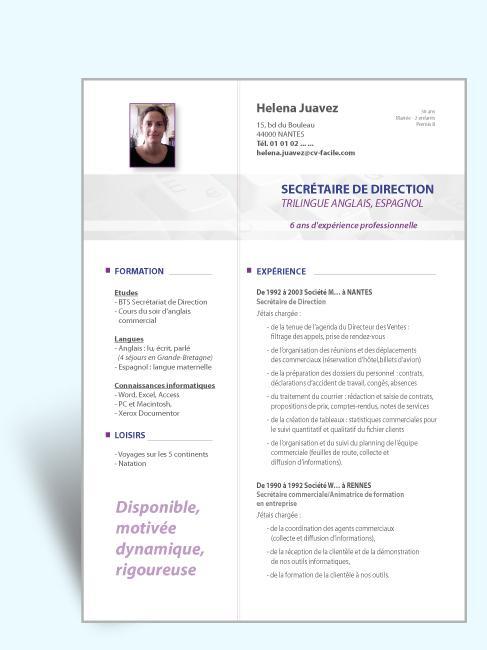 Comment rédiger un bon CV: CV en français gratuit Réf# 39