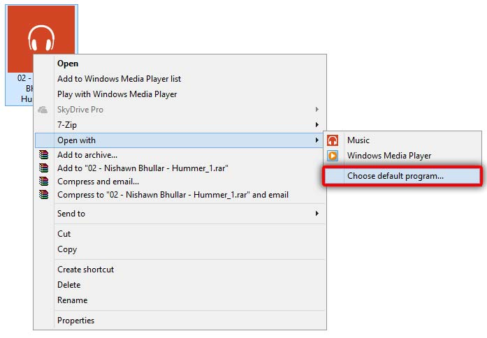 how to set flash as default player