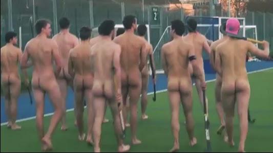 nude hockey locker room
