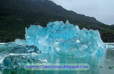 A stunning Iceberg washed up on the coast of Alaska