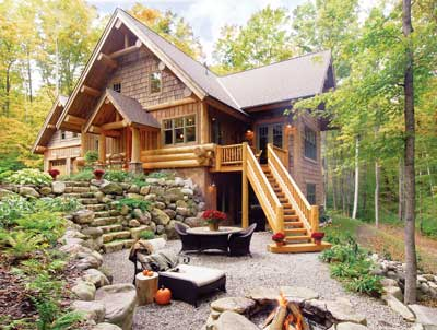 Beautiful log cabin picture | If I ever win the Lottery ...