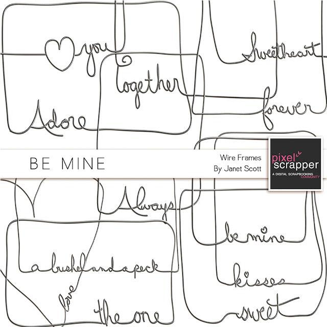 Word Frame Shape Mask Kit- Be Mine Part 11 | Free Blogging Place