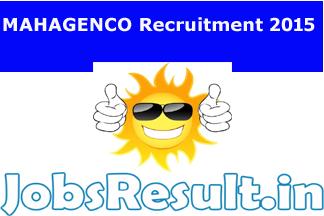 MAHAGENCO Recruitment 2015