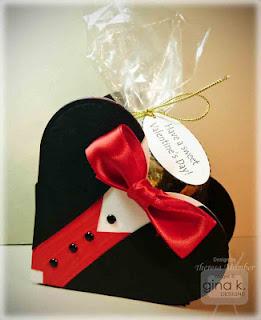 DIY Tuxedo Heart  Box.