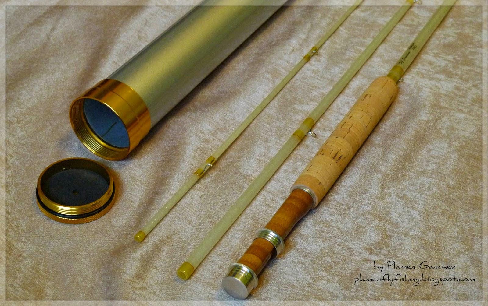 Plamen ganchev fly rods kabuto fiberglass 7ft 6in 4wt for Fishing rod blanks