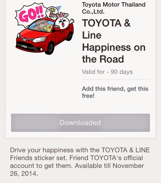 TOYOTA & Line Happiness on the Road