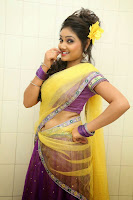 TV Anchor Priyanka in Half Saree Navel Show still-2