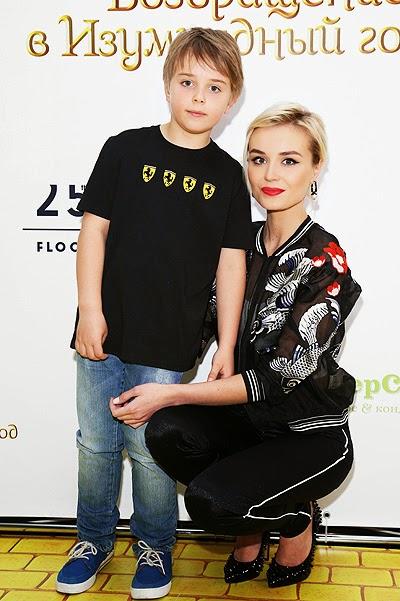 Polina Gagarina with his son Andrei