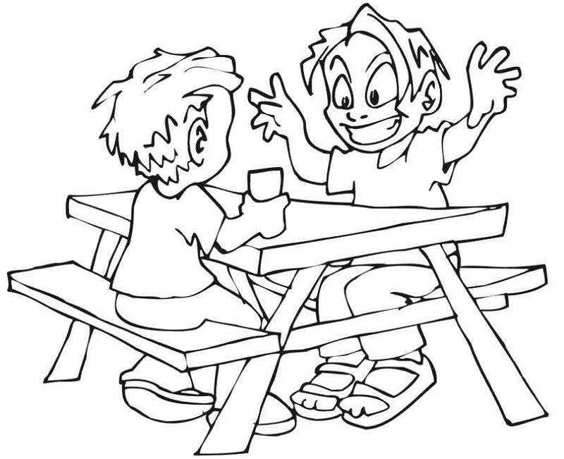 Picnic Food Coloring Pages, Picnic Coloring Page - Coloring Home