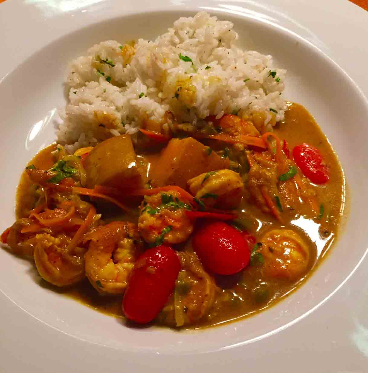 James Walsh Food And Movie Diary: Curried Shrimp And ...